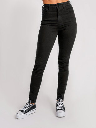 Abrand A High Skinny Ankle Basher Jeans in Black Magic Denim