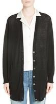 Alexander Wang Women's Wool Blend Gauze Long Cardigan