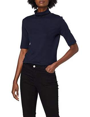Tom Tailor Women's Rollkragen T-Shirt, (Sky Captain Blue 10668), S