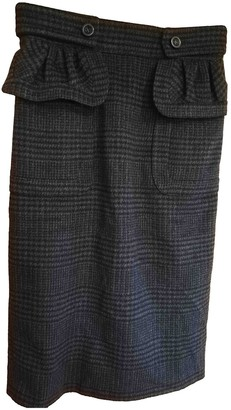 Burberry Anthracite Cashmere Skirt for Women
