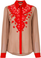 Roberto Cavalli floral lace shirt - women - Silk - 40