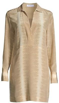 Equipment Riannon Python Silk Shirtdress
