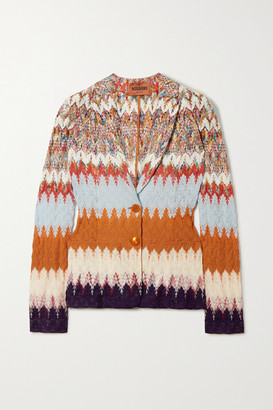 Missoni Crochet-knit Blazer - Orange