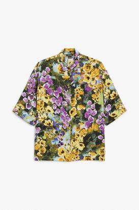 Monki Oversized button-up blouse