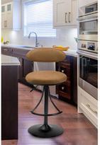 Hillsdale Furniture Venus Adjustable Height Black Powder Coat Swivel Cushioned Bar Stool