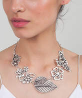 Yu & Shi Women's Necklaces ANTIQUE - Silvertone Floral Bib Necklace