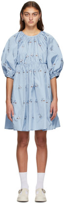 Cecilie Bahnsen SSENSE Exclusive Blue Ava Dress