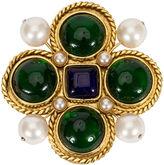 One Kings Lane Vintage 1980s Chanel Maltese Cross Gripoix Pin