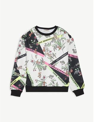 Pinko Floral twill sweatshirt 8-16 years