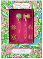 Lilly Pulitzer In the Bungalows Volume Control Earbuds