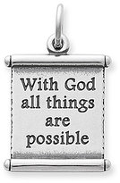 James Avery Jewelry James Avery With God All Things Are Possible Scripture Scroll Sterling Silver Charm