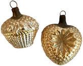 One Kings Lane Vintage Blown Glass Basket & Heart Ornaments