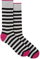 Barneys New York MEN'S STRIPED COTTON-BLEND SOCKS