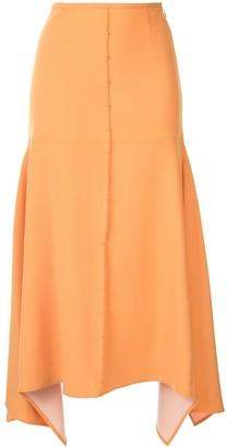 Ellery Panelled Midi Skirt