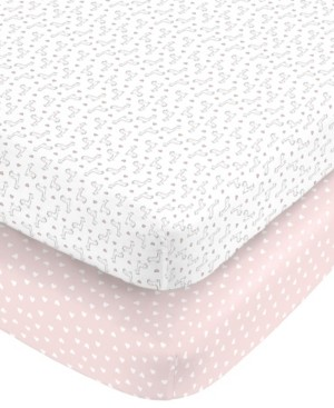 Carter's Cotton Sateen Fitted Crib Sheet 2-Pack Bedding