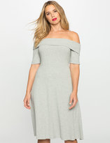 ELOQUII Plus Size Off the Shoulder Sweater Dress