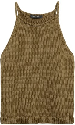 Banana Republic Petite Halter-Neck Sweater Tank