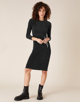 Monsoon Gabriella Sparkle Dress Black