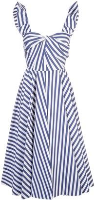 Jason Wu Collection striped flared dress