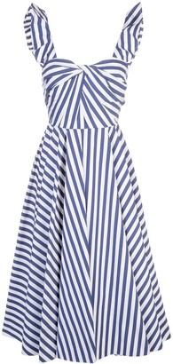 Jason Wu Collection Striped Flared Dress