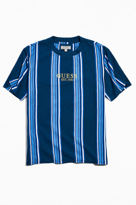 GUESS ORIGINALS UO Exclusive Marine Blue Stripe Tee