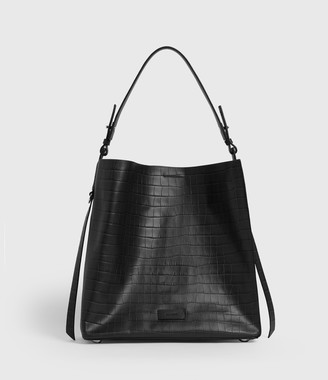 AllSaints Polly Croc Leather North South Tote Bag