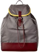 Prada Calf Leather & Fabric Backpack.