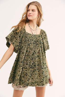 Free People Wildest Dreams Printed Tunic