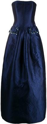 Talbot Runhof Strapless Gown