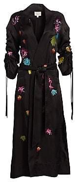 Cinq à Sept Women's Aziza Embroidered Kimono Long Jacket