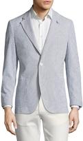 Tailorbyrd Men's Notch Lapel Striped Sportcoat