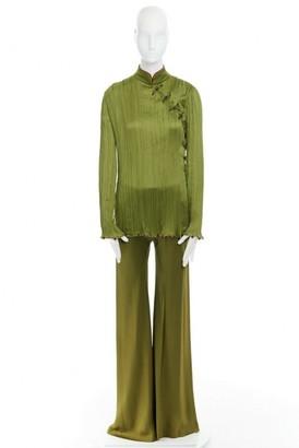 Christian Dior Green Silk Jumpsuits