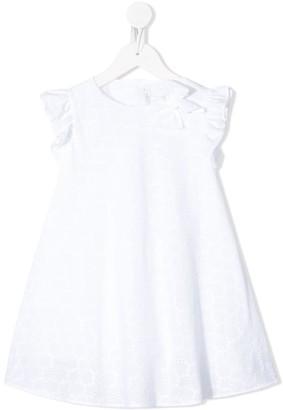 Il Gufo Embroidered Flared Dress