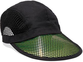 Rag & Bone Pvc, Mesh And Woven Baseball Cap
