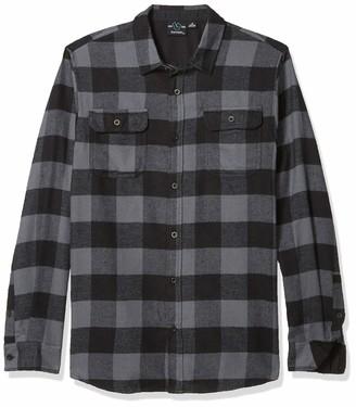 Burnside Men's Vector Long Sleeve Button Down Solid Flannel Shirt