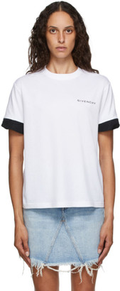 Givenchy White Twisted Cuffs T-Shirt