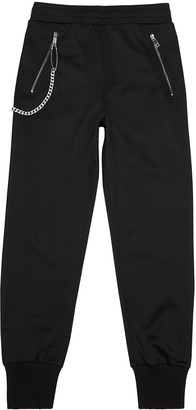 Givenchy Black chain-embellished jersey sweatpants