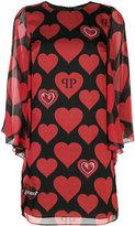Philipp Plein love heart mini dress
