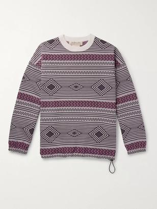 Remi Relief Jacquard-Knit Sweatshirt