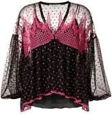 Philosophy di Lorenzo Serafini embroidered bell sleeve blouse