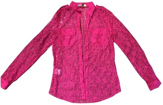 MSGM Pink Lace Tops
