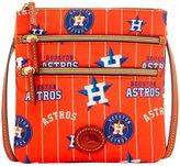 Dooney & Bourke Houston Astros Nylon Triple Zip Crossbody
