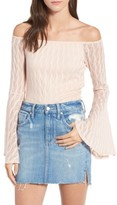 Band of Gypsies Women's Bell Sleeve Off The Shoulder Top