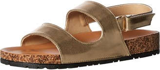 Qupid Women's Sling Back Sandal Flat