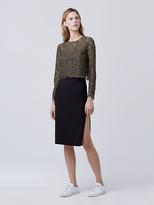 Diane von Furstenberg Noemi Zip Pencil Skirt