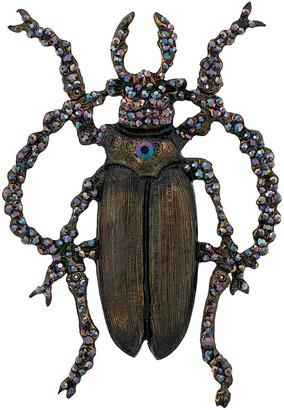 Gianfranco Ferré Pre Owned 2000s Embellished Beetle Brooch
