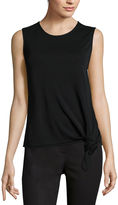 Liz Claiborne Side-Knot Tank Top - Tall