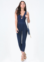 Bebe Stretch Denim Catsuit