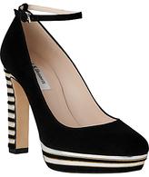 LK Bennett L.K.Bennett Sevina Block Heeled Platform Court Shoes, Black