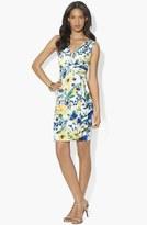 Lauren Ralph Lauren Print Ruffled Sheath Dress